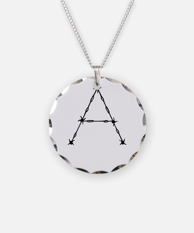 Barbed Wire Monogram A Necklace