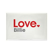 Love Billie Rectangle Magnet