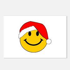 Christmas Santa Smiley Postcards (Package of 8)