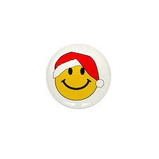 Christmas Santa Smiley Mini Button (10 pack)