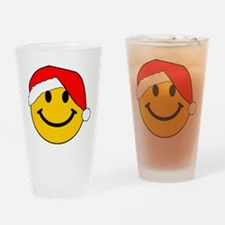 Christmas Santa Smiley Drinking Glass