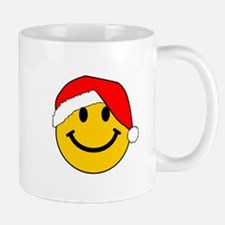 Christmas Santa Smiley Mug