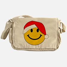 Christmas Santa Smiley Messenger Bag