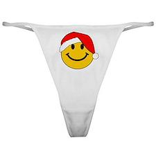 Christmas Santa Smiley Classic Thong