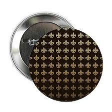 """Chocolate Fleur de lis 2.25"""" Button (100 pack)"""