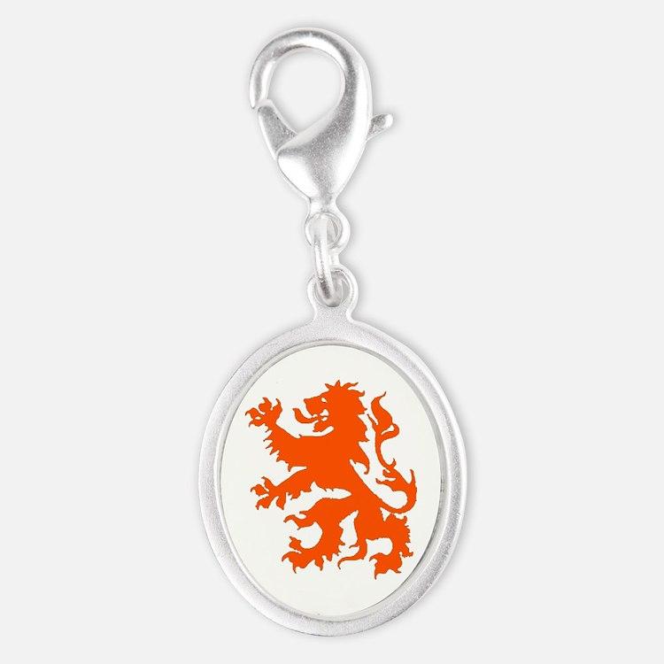 Dutch Lion Silver Oval Charm