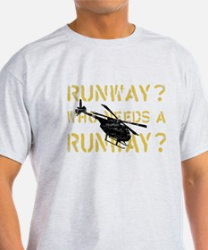 Runway? Who Needs A Runway? Grunge type T-Shirt
