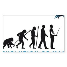 evolution of man with model plane Decal