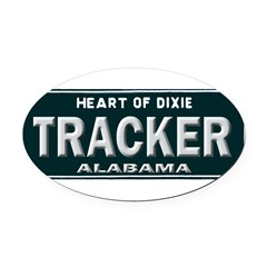 Alabama Tracker Oval Car Magnet