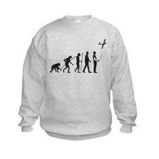 evolution of man with model plane Sweatshirt