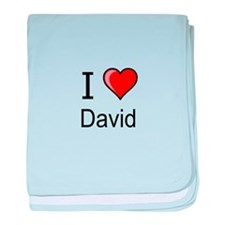 I love David heart tee baby blanket
