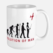 evolution of man with model plane Tasse