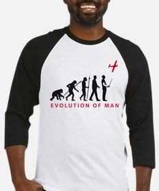 evolution of man with model plane Baseball Jersey