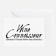 wine connoisseur Greeting Card