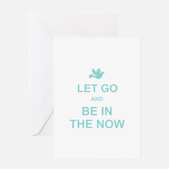 Let go spiritual quote Greeting Card