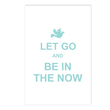 Let go spiritual quote Postcards (Package of 8)