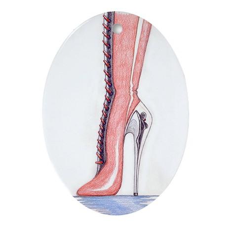 Mistress Boot Ornament (Oval)