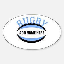 Rugby Add Name Light Blue Bumper Stickers