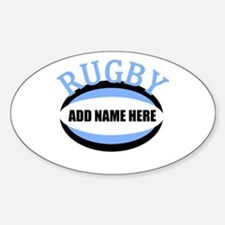 Rugby Add Name Light Blue Decal