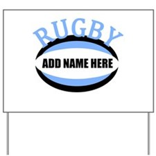 Rugby Add Name Light Blue Yard Sign