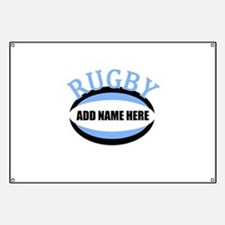 Rugby Add Name Light Blue Banner
