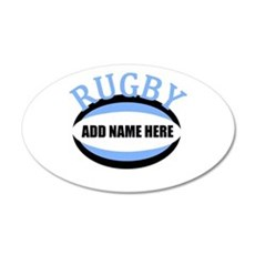 Rugby Add Name Light Blue Wall Decal