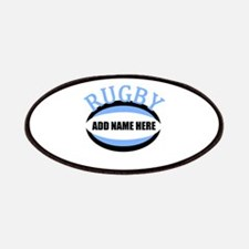 Rugby Add Name Light Blue Patches