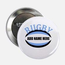 "Rugby Add Name Light Blue 2.25"" Button"