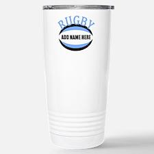 Rugby Add Name Light Blue Travel Mug