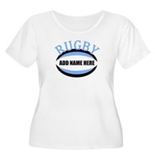 Rugby Add Name Light Blue T-Shirt