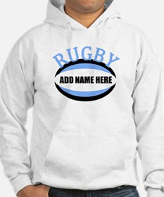 Rugby Add Name Light Blue Hoodie