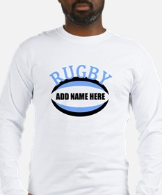 Rugby Add Name Light Blue Long Sleeve T-Shirt