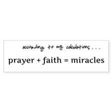 Formula for miracles - DARK TEXT Bumper Sticker