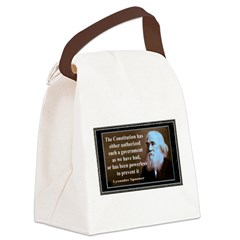 Lysander Spooner quote Canvas Lunch Bag