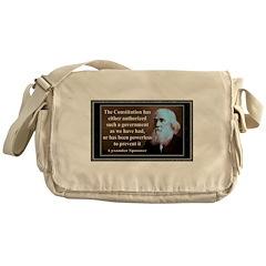 Lysander Spooner quote Messenger Bag