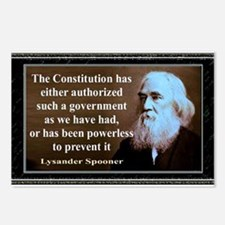 Lysander Spooner quote Postcards (Package of 8)