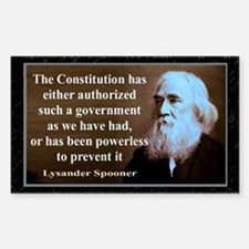 Lysander Spooner quote Decal
