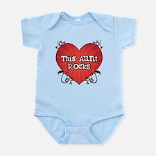 Tattoo Heart Aunt Rocks Infant Bodysuit
