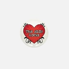 Tattoo Heart Aunt Rocks Mini Button
