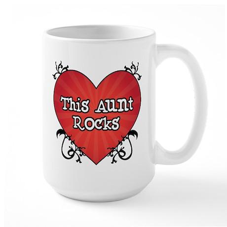 Tattoo Heart Aunt Rocks Large Mug