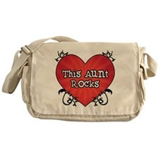 Tattoo Heart Aunt Rocks Messenger Bag