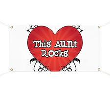 Tattoo Heart Aunt Rocks Banner