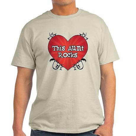 Tattoo Heart Aunt Rocks Light T-Shirt