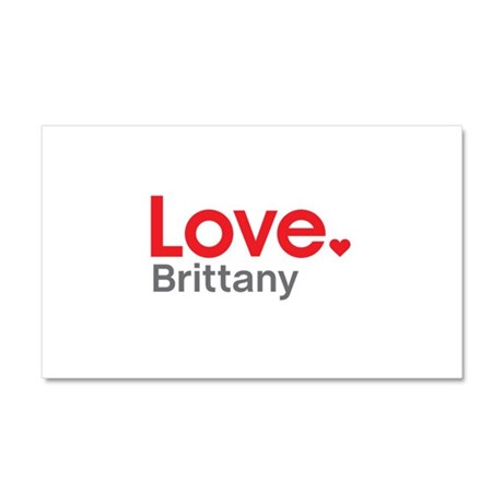Love Brittany Car Magnet 20 x 12