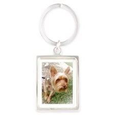 Silkie Terrier 3 Portrait Keychain