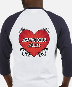 Tattoo Heart Awesome Aunt Baseball Jersey