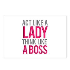 Act like a lady think like a boss Postcards (Packa
