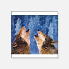 """""""Howling Wolves"""" Rectangle Sticker"""