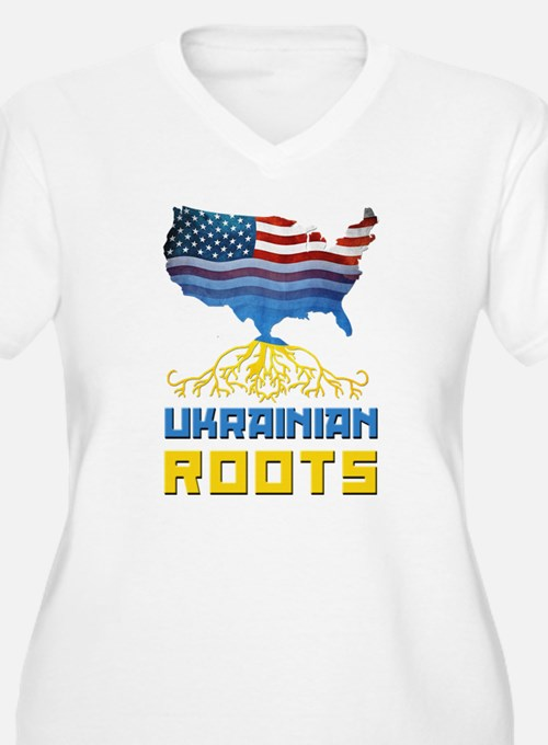 American Ukrainian Roots Plus Size T-Shirt