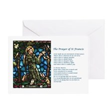 St Francis and the St Francis Prayer Greeting Card
